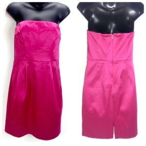 Express Design Studio Pink Strapless Sheath Dress